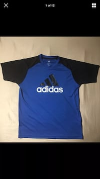 Adidas Authentic Logo Royal Blue and Black Climalite T-Shirt SIZE XL NWOT London, N6G 2Y8