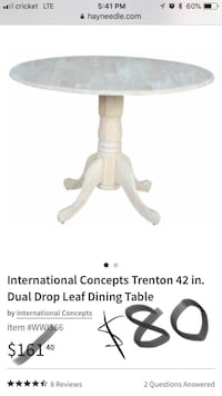 Dual leaf dining table Columbus