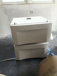 2 Washer / Dryer drawer pedistle -Universal, white Fairfax