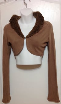 Brown Fur Crop Bolero: Size XS/S Toronto, M6G