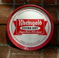 "Rheingold Beer Extra Dry Lager Vintage 12 "" Tray Bethesda, MD, USA"