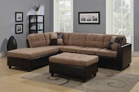 Brown and black sectional sofa Clifton, 07013