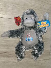 2007 NWT #1 Dad rare TY Gorilla new stuffed animal Manchester, 03103
