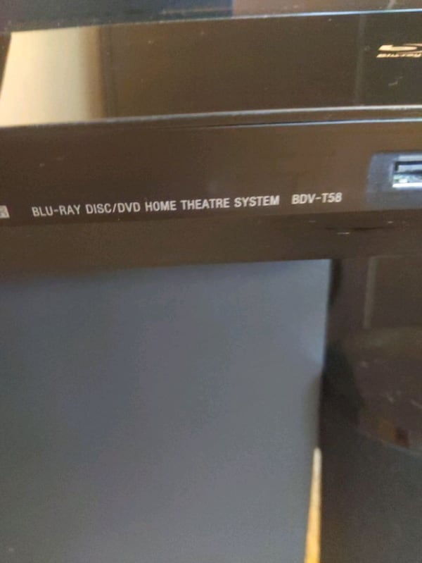Sony surround sound system (w/ Blue-ray player and 0c2b0b2c-0028-4601-ad9c-420c58a70751