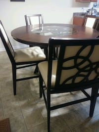 Tall dining table w/bench & 3 chairs Dallas, 28034