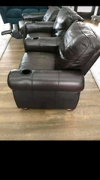 black leather 2-seat sofa Frederick, 21701