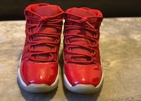 Red Jordans 11's Great Condition 6 1/2