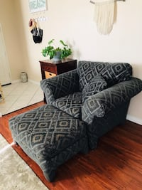 black and gray fabric sofa chair Eastvale, 92880