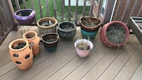 Six assorted color ceramic flower pots Knoxville, 37931