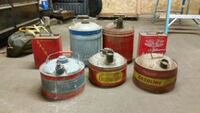 Antique metal gas cans. $5 for a 2 gal $10 for a 3 Tustin, 49688