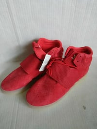 Adidas Red Tubular Invader Strap Sneakers Sz 8.5