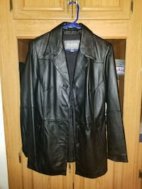black leather zip-up jacket Granite Falls, 28630