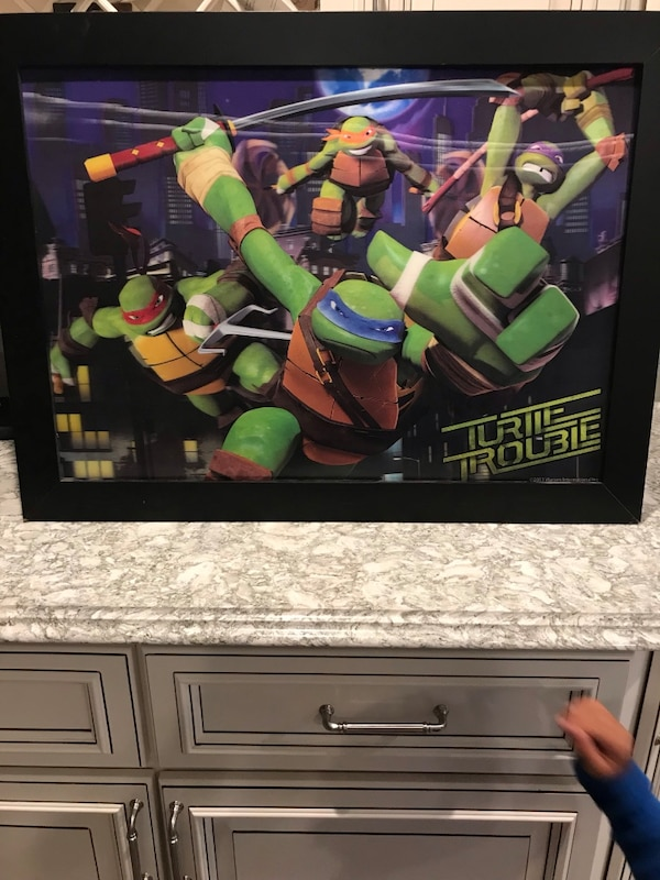 Framed TMNT HANGING WIRE IN BACK 5ad03a8a-8b66-4ef9-9458-a98373a2b257