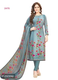 women's gray and pink floral long sleeve dress New Delhi, 110064