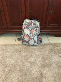 white, red, and blue floral backpack Charlotte, 28216