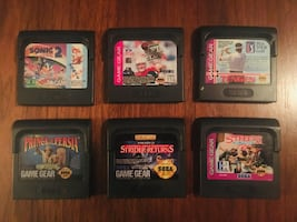 6 Jeux Game Gear