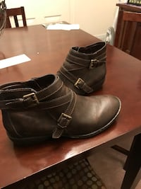 pair of black leather boots Boise, 83713