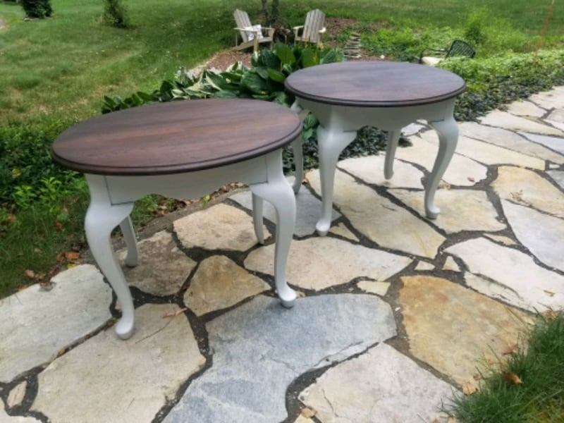 Rustic refinished side tables. ec481e79-eed4-4ff2-a36a-8ed604cc410d