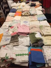 61 vintage pillowcases for use or crafts