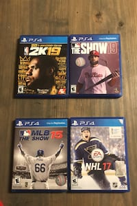 Ps4 2k19 and the show 19 for 40 for both the bottom 10.00 dollars each