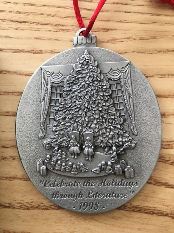 Collectible pewter Christmas ornament 1998