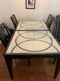 Brown Glass Top Table with Chairs Woodbridge, 22191