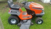 red and black riding mower Chester, 23831