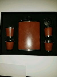New Whiskey Flask Set 18 mi