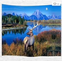 DEER LAKE HANGING TAPESTRY NEW   Victoria