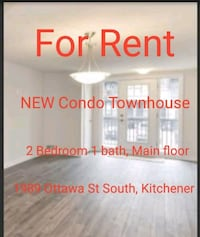For Rent - New condo townhouse, 2 bedroom  Kitchener