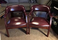 Set of two non Leather upholstered accent chairs  Cottonwood Heights, 84121
