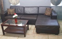 Brown leather sofa/delivery available Mississauga, L4Y 1P2