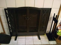 Wrought Iron Fireplace Screen Set Lacey, 98503