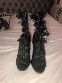 LILIANA Black Lace High Heels Size 8.5 Silver Spring, 20904