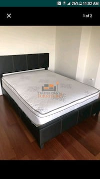 Brand New Queen Size Leather Bed +Mattress  Silver Spring, 20902