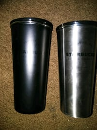 Matching set of stainless steel Starbucks cups Spokane, 99202
