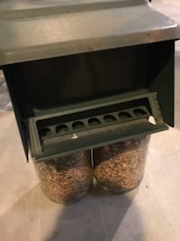 Bird feeder and seed null