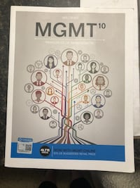 MGMT 10 Principles of Management Textbook Olympia, 98512