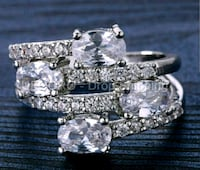 $16 NEW sz 9 or 10 silver plated CZ ring Ballwin, 63021