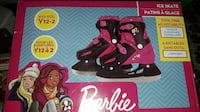 Brand New Barbie ice Skates Fits Y12-2  Shakespeare