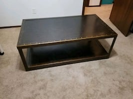 Bronze metal coffee table