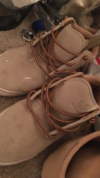brown Adidas work boots