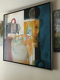 abstract painting with gray metal frame Silver Spring, 20904