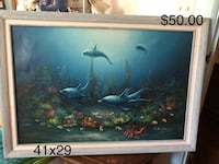 Framed artwork - dolphins Virginia Beach, 23452