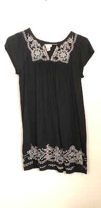 Black and white floral embroidered dress Torrance, 90504
