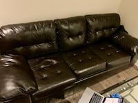 Free Dark Leather Couch - you take care of moving NEWYORK