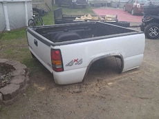grey and black truck bed
