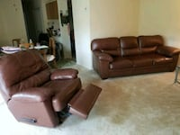 Brown Sofa and reclining chair Gaithersburg, 20877