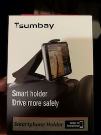Smartphone holder for the dash
