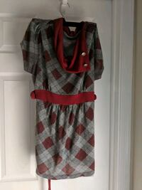 women's gray and red sleeveless dress Stafford, 22554